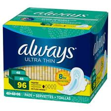 Always Ultra Thin Regular Pads, 96 -count, With Flexi-Wings. Size(1)