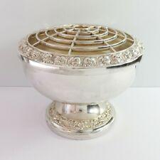 Vintage Ianthe Silverplate Flower Posy Rose Floral Georgian Style Bowl, England