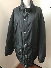 prada men's down filled nylon jacket coat windbreaker hidden hood green L-XL