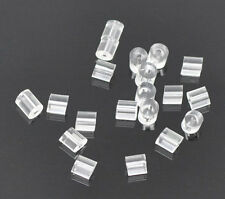 1000 Rubber Back Earring Stoppers Findings 3x3mm