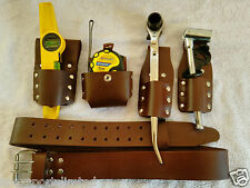 Scaffolding Brown Leather Tool Belt with Full Toolset UK Sale Best Price Offer