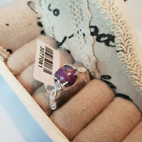 Mojave Purple Turquoise Solitaire Ring set in Sterling Silver