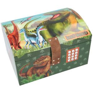 Dino World Children's Storage Chest Secret Code Lock Lights & Sound Depesche