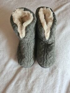 VeraCosy Ladies' Cosy Cable Knit Memory Foam Slipper Boots UK Size 9-10