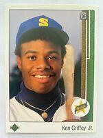 1989 Upper Deck KEN GRIFFEY JR. Rookie #1, Mariners RC HOF