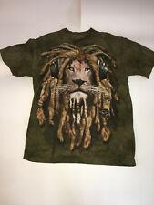 "Rasta Lion Shirt Adult Size Medium The Mountain ""Manimal"" DJ Jahman Headphones"