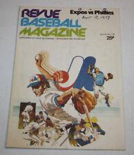 Montreal Expos vs Philadelphia Phillies Program Magazine | August 17 1977