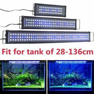 Aquarium Fish Tank LED Over Head Light Adjustable Blue+White/RGB Full Spectrum