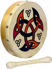 Mini 8inch Celtic Shield Bodhran Ornamental Traditional Irish Drum With Beater