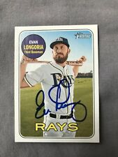 EVAN LONGORIA Signed Autograph 2018 Topps Heritage Card Giants Rays #397 IP COA
