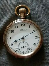 Gold plated Record pocket watch 7 jewel 2 adusts