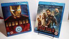 Marvel's Iron Man (Bluray,2008)+Iron Man 3(Bluray,2013)NEW(Sealed) - Free S&H