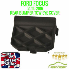Black Tow Hook Cover Eye Cap Insert Rear Bumper For Ford Focus 2011 Onwards