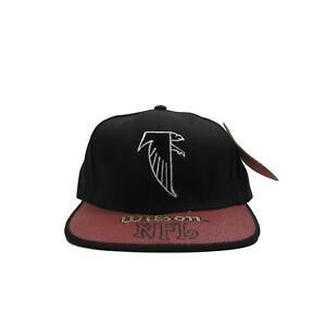 Atlanta Falcons Pebble Grain Leather Strapback Hat Deadstock Football Wilson NFL