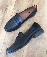 New Madewell The Elinor Loafer in Leather Black Sz 11 F5096