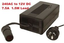 240V AC to 12V DC 7.5A Power Supply Adapter Cigarette Socket, Waeco Engel Fridge