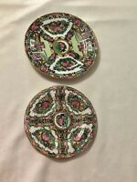 "2 - Porcelain Ware Japanese Plates Decorated 7"" and 6 1/2"""