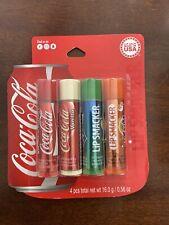 Lip Smacker Lip Balm Coca-Cola 4pc. Set Coke, Vanilla Coke, Sprite, Fanta NEW
