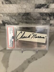 Chuck Norris Autograph Cut Signature PSA COA