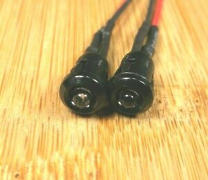 """2 BBT 12 volt Bright Green LED 1/4"""" Snap-In Indicator Lights"""
