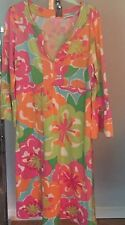 Lilly Pulitzer Pink Paradise Empire Waist 3/4 Sleeves Tunic Dress S