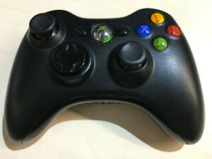 Official Genuine Original Microsoft Xbox 360 Black Wireless Controller Pad