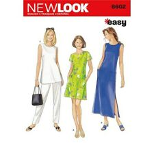 New Look Sewing Pattern 6602 Misses Sz 10-28 Easy Dresses 2 Lengths Tunic Pants