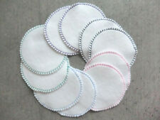 10 Reinigungspads Kosmetikpads Abschminkpads waschbar 2-seitig 7cm Ø weiß