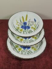3 RARE RIVERSIDE MIDWINTER STONEHENGE BREAD & BUTTER PLATE (OTRS AVAIL)WEDGWOOD