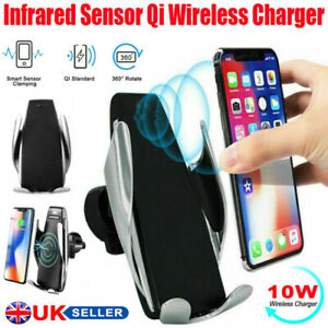 Qi Wireless Charger Fast Charging Automatic Clamping Car Mount Phone Holder
