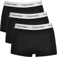 Calvin Klein Men's CK Cotton Stretch 3 Pack Low Rise Trunk Boxer Brief, Black