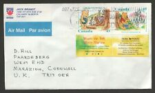 1997 Canada cover to UK. Winnie The Pooh Bear