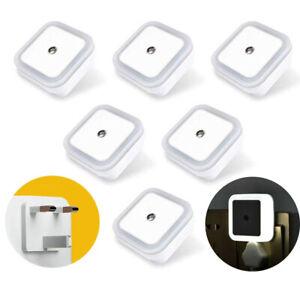 6x Automatic Sensor LED Night Light Plug in Low Energy Saving Kids Baby Safety