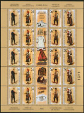 Yugoslavia 2002 Museum exhibits - Costumes, Sheet with central vignette, MNH