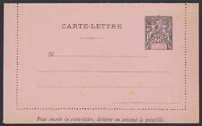 FRANCE, New Caledonia, 1892. Letter Card H&G 6, Mint