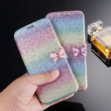 Cute Wallet Magnetic Flip Colorful Leather Slim Case Cover For iPhone Samsung S9