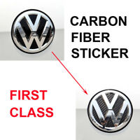 1x Carbon Fiber Style Rear Boot Trunk Sticker Badge Decals For VW Golf Polo S208