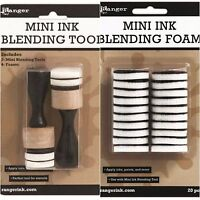 Tim Holtz Ranger 2 MINI INK BLENDING TOOL + 20 MINI ROUND FOAM REFILLS Bundle