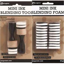 Tim Holtz Ranger 2 MINI INK BLENDING TOOL + 20 MINI ROUND FOAM REFILLS Bundle