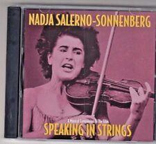 (CD)   NADJA SALERNO SONNENBERG  - SPEAKING IN STRINGS - CD GREAT SHAPE