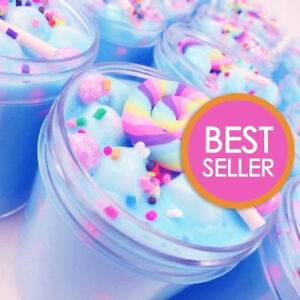 Unicorn Birthday Cake Slime (Scented) with Charm - Made in USA