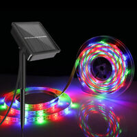 Solar Powered LED Rope String Fairy Light Flexible Strip Fence Lamp Outdoor 3M
