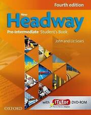 NEW HEADWAY Pre-Intermediate Fourth Edition Student's Book & iTutor DVD Pack NEW