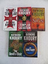 Lot of 5 RAYMOND KHOURY Last Templar Salvation Sign Sanctuary Signet  Paperbacks