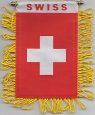 Switzerland Swiss Flag Hanging Car Pennant for Car Window or Rearview Mirror