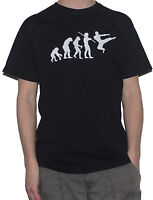 NEW MARTIAL ARTS T-SHIRT Evolution Of Man Artist ( Funny Karate Kung Fu Top)