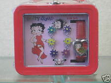 New Betty Boop Bracelet Watch Gift Set Heart Rose Roses