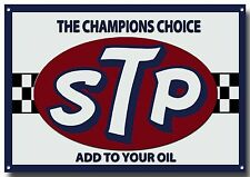 STP THE CHAMPIONS CHOICE METAL SIGN GARAGE SIGN,MOTOR RACING SIGN,