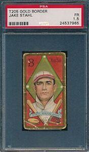 1911 T205 Jake Stahl Polar Bear PSA 1.5 *OBGcards*