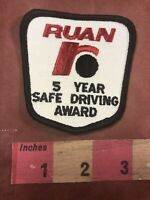 Vtg RUAN TRUCKING COMPANY Patch - 5 Year Safe Driving Award 92P7